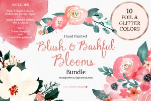 Blush-Bashful-Blooms-Watercolor-Clipart-Bundle
