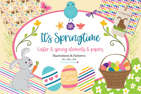It's Springtime - Easter & Spring Graphics and Papers